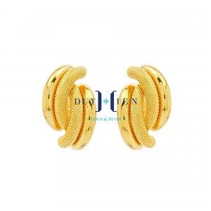 bông tai vàng 18k đẹp hình bôốn quả chuối đặt ghép đôi với nhau kiểu đẹp