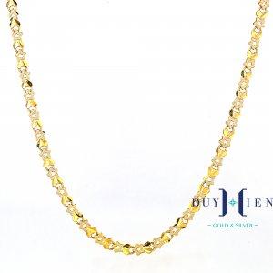 dây chuyền nữ loại dây chuyền vàng tây hình ngôi sao nối đan xen với cánh ong nhỏ kiểu dáng dây cóc