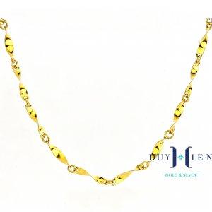 dây chuyền nữ giá rẻ loại dây chuyền vàng tây 10k dáng que xoắn