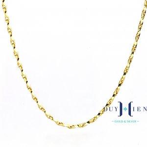 dây chuyền nữ vàng tây có dáng dây tăm một màu đẹp