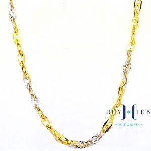 dây chuyền vàng cho nữ hình hạt thóc nối liền với nhau dày đẹp