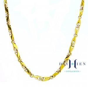 dây chuyền vàng nam loại dây chuyền vàng hình mũi tên bản đúc rỗng to