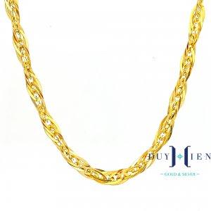dây chuyền vàng nữ loại dây chuyền vàng tây 10k kiểu dây chuyền xoắn đẹp một màu
